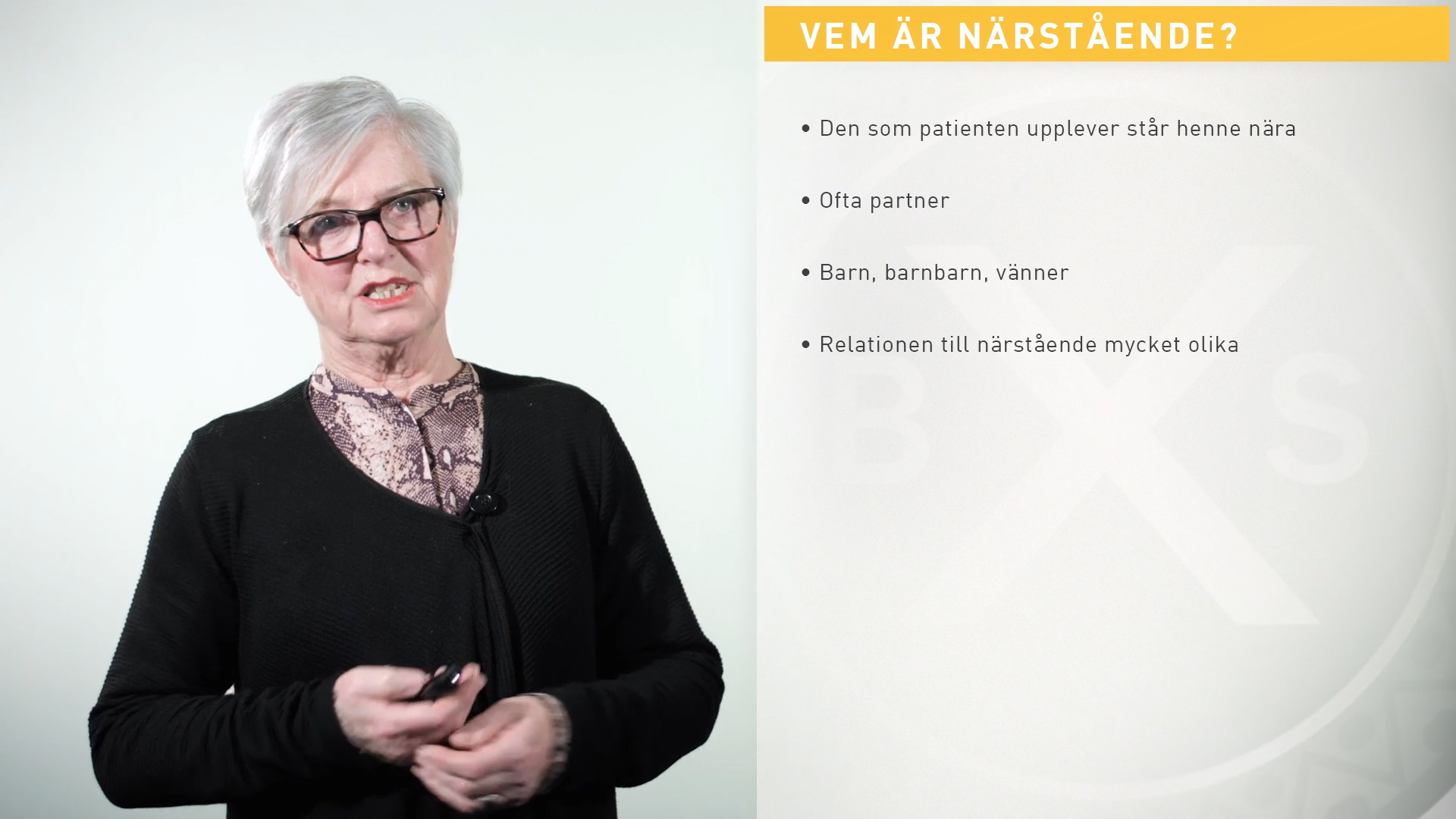 Stöd till närstående i palliativ vård