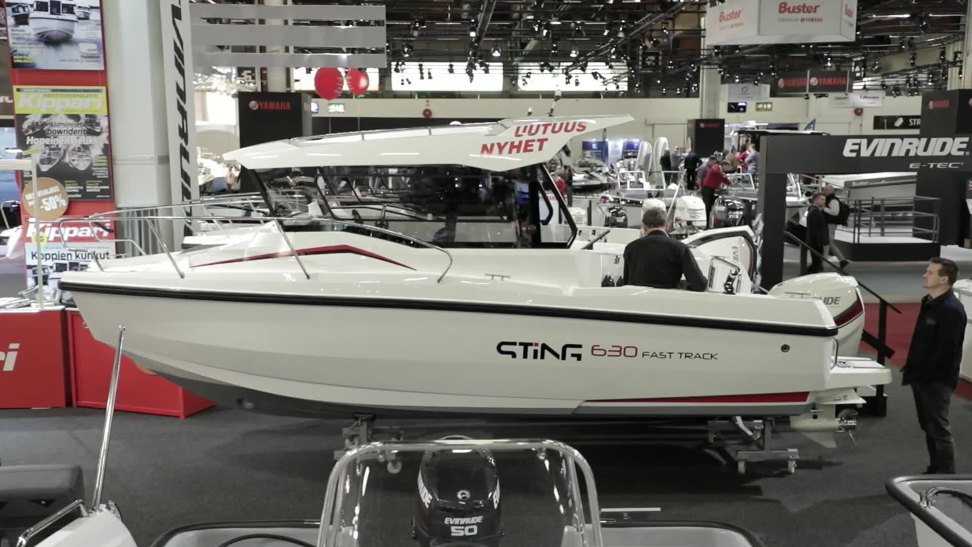 Vene 18 Båt: Messujen retki- ja yhteysmoottoriveneeksi valittiin Sting 630 Fast Track